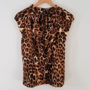 2 for $20 Express leopard print henley top small